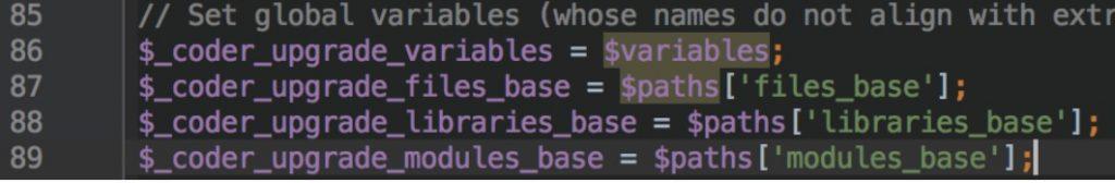 drupal-variables