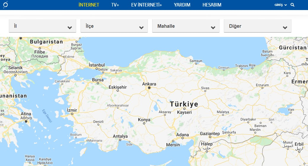 turkcell superonline internet altyapısı sorgulama